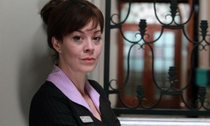 Publicity still from ITV drama Leaving of Julie Ranmore (Helen McCrory