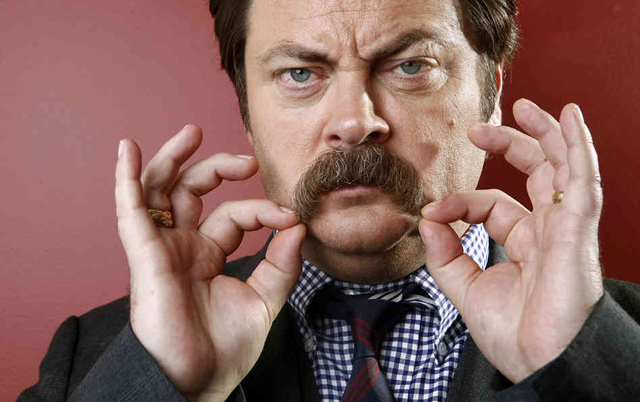 Nick offerman baffi