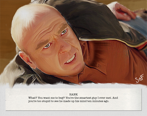Last words to Walter White - Hank