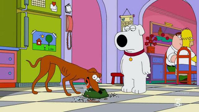 Simpons Family Guy - Brian e Piccolo aiutante