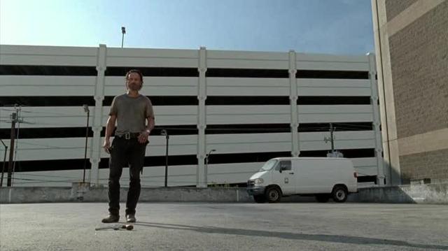 Walking Dead Rick parcheggio