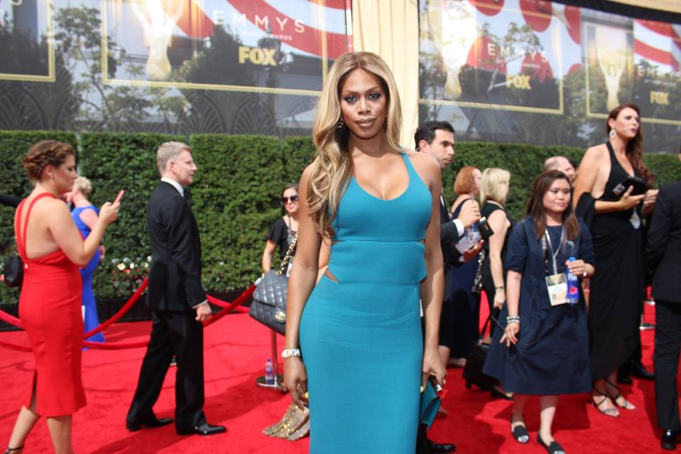 Laverne Cox arrives on the ‪#‎Emmys‬ red carpet. Orange is the New Black