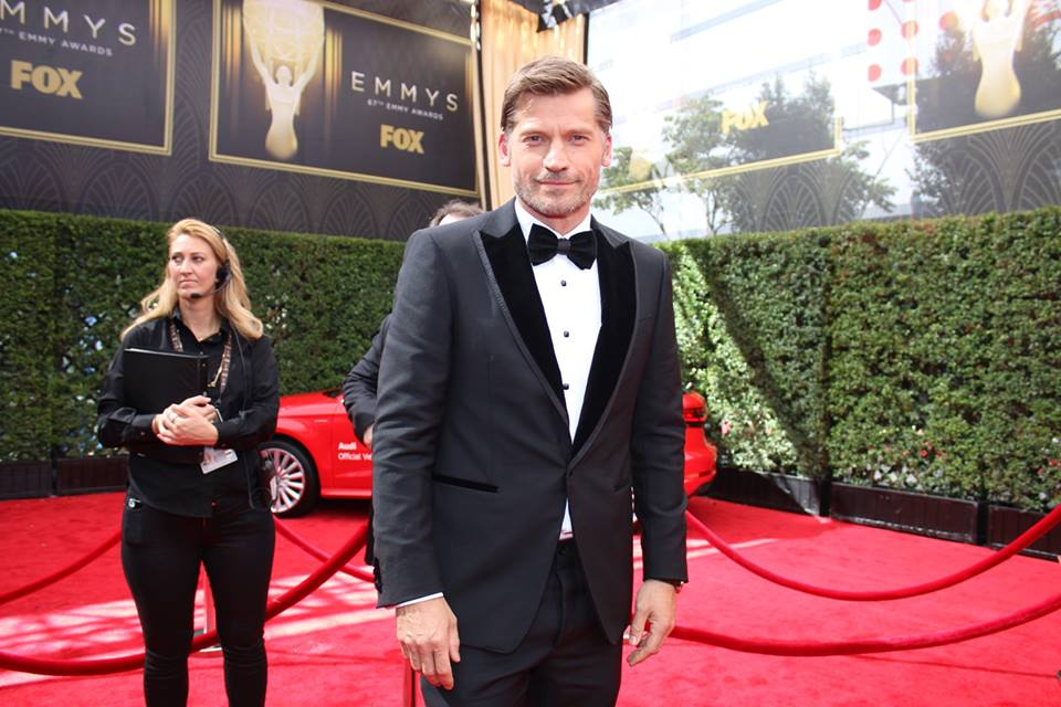 Nikolaj Coster-Waldau arrives at the 2015 #Emmys Game of Thrones