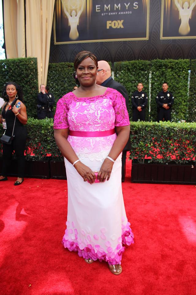 Retta looking pretty in pink on the #Emmys red carpet. Parks and Recreation
