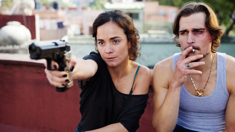 "QUEEN OF THE SOUTH -- ""Piloto"" Episode 101 -- Pictured: (l-r) Alice Braga as Teresa Mendoza, Jon Ecker as Guero -- (Photo by: Benedicte Desrus/USA Network)"
