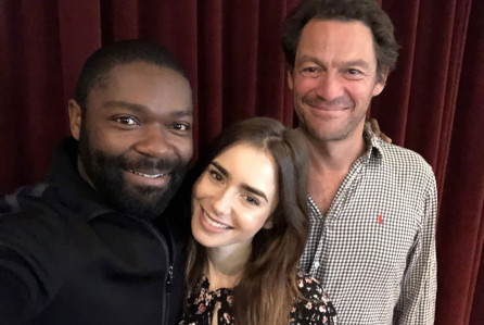 WARNING: Embargoed for publication until 00:00:01 on 10/01/2018 - Programme Name: Les Miserables - TX: n/a - Episode: Les Miserables - Casting Announcement (No. n/a) - Picture Shows: David Oyelowo, Lily Collins, Dominic West - (C) BBC/Lookout Point - Photographer: David Oyelowo