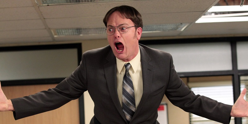 "THE OFFICE -- ""Livin' The Dream"" Episode 921 -- Pictured: Rainn Wilson as Dwight Schrute -- (Photo by: Chris Haston/NBC/NBCU Photo Bank via Getty Images)"