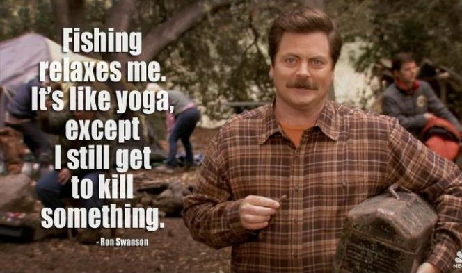 Ron Swanson e lo yoga