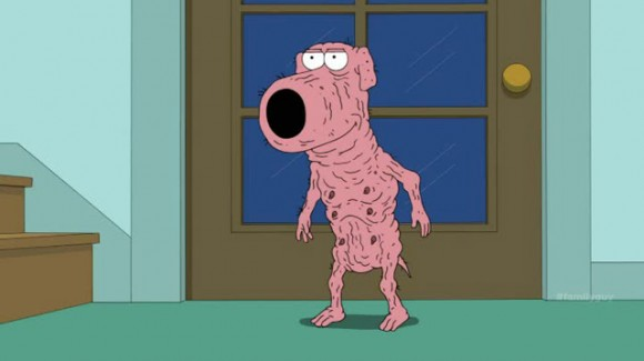 Family Guy - Brian shaved