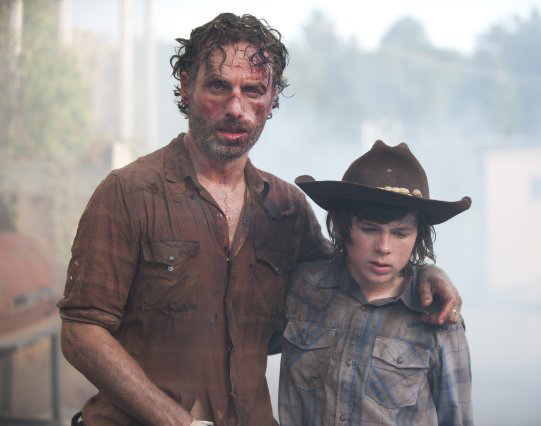 The Walking Dead - Rick e Carl
