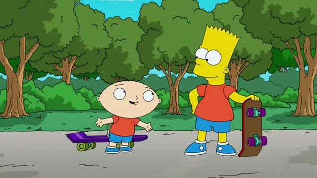 Simpons Family Guy - Stewie Bart