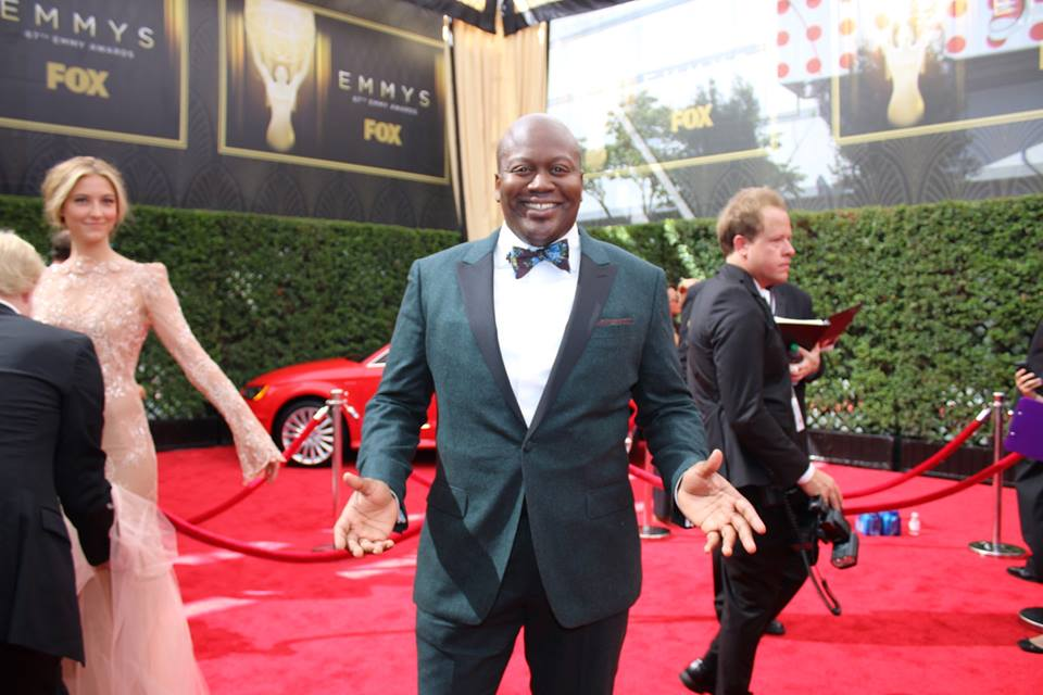Nominee Tituss Burgess arrives at the 2015 ‪#‎Emmys‬. Unbreakable Kimmy Schmidt