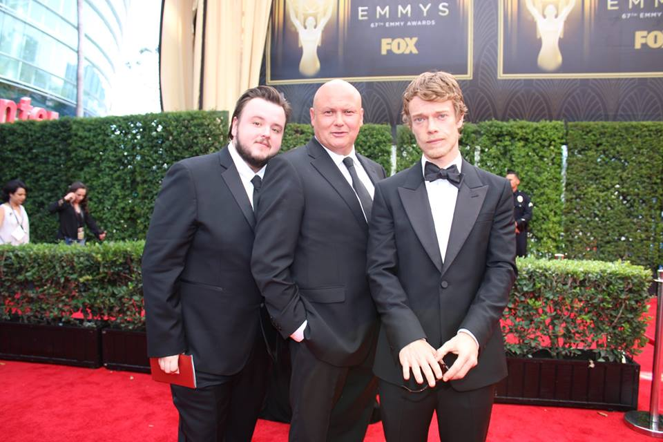 The men of Game of Thrones on the 2015 #Emmys carpet.