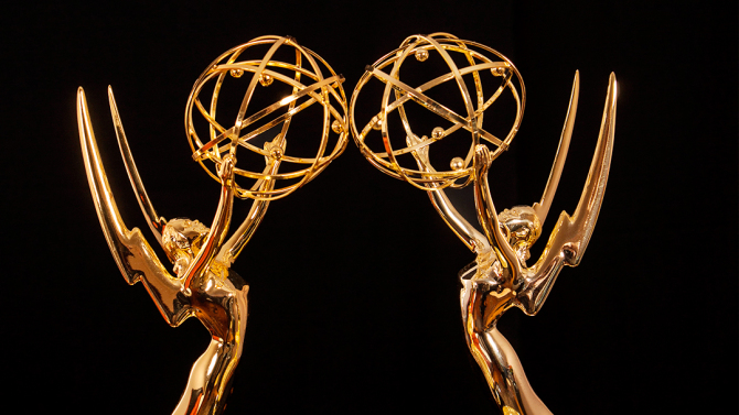 New York, NY/USA-April 20: Emmy Awards Statue.; Shutterstock ID 334866179; Usage: web; Issue Date: N/A