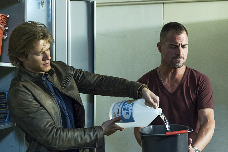 """""""The Rising"""" -- Angus """"Mac"""" MacGyver (Lucas Till) and Jack Dalton (George Eads), special agents for the Department of External Services (DXS), join forces to recover a missing bioweapon that has the ability to destroy hundreds of thousands of people with one single drop, on the series premiere of the new drama MACGYVER, Friday, Sept. 23 (8:00-9:00 PM, ET/PT), on the CBS Television Network. Lucas Till, George Eads, Sandrine Holt, Justin Hires and Tristin Mays star. Pictured: Lucas Till, George Eads Photo: Annette Brown/CBS ©2016 CBS Broadcasting, Inc. All Rights Reserved"""
