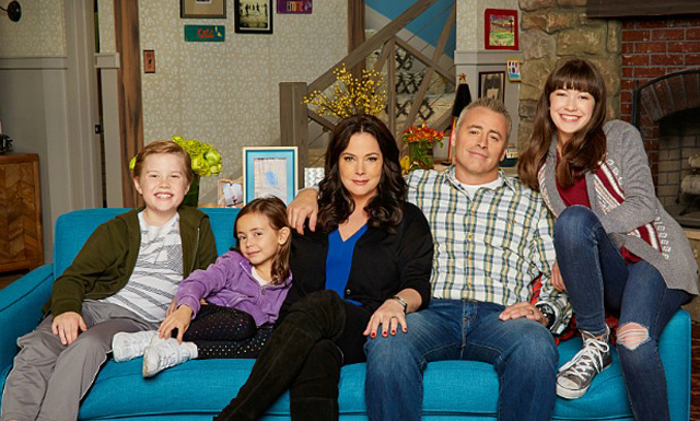 Pictured (L-R) Matthew McCann as Teddy, Hala Finley as Emme, Liza Snyder as Andi, Matt LeBlanc as Adam and Grace Kaufman as Kate of the CBS series MAN WITH A PLAN, premieres Monday, Oct. 24 on the CBS Television Network Photo: Monty Brinton/CBS ©2016 CBS Broadcasting, Inc. All Rights Reserved