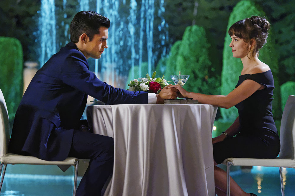 "INCORPORATED -- ""Pilot"" Episode 101 -- Pictured: (l-r) Sean Teale as Ben Larson, Allison Miller as Laura Larson -- (Photo by: Ben Mark Holzberg/Syfy)"