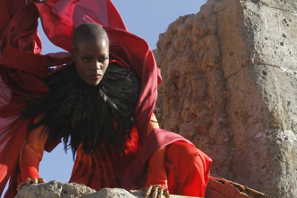 "EMERALD CITY -- ""The Beast Forever"" Episode 101 -- Pictured: Florence Kasumba as Wicked Witch of the East -- (Photo by: Rico Torres/NBC)"