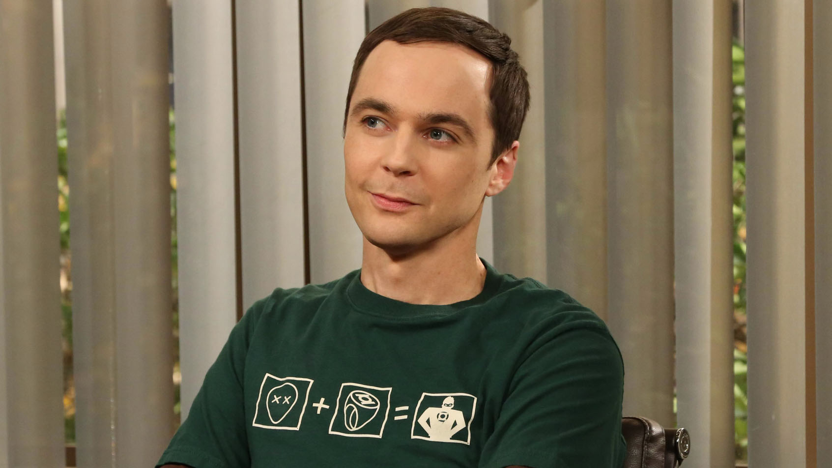 """""""The Tangible Affection Proof"""" – While the guys try to give their significant others the perfect Valentine's Day, Raj and Stuart throw a """"lonely people"""" party at the comic book store, on THE BIG BANG THEORY, Thursday, Feb. 14 (8:00 – 8:31 PM, ET/PT) on the CBS Television Network. Pictured: Sheldon (Jim Parsons). Photo: Michael Yarish/Warner Bros. ©2013 Warner Bros. Television. All Rights Reserved."""