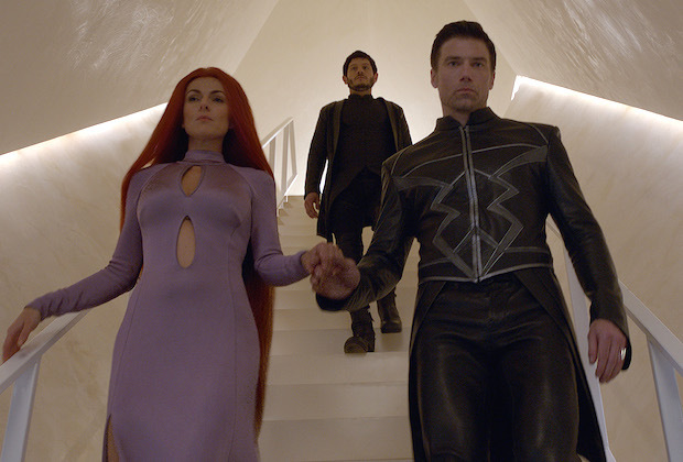 MARVEL'S INHUMANS - Create your destiny. Meet Marvel's Inhumans early in IMAX theatres September 1, and experience the full series starting September 29 on ABC. (ABC/Marvel) SERINDA SWAN, IWAN RHEON, ANSON MOUNT