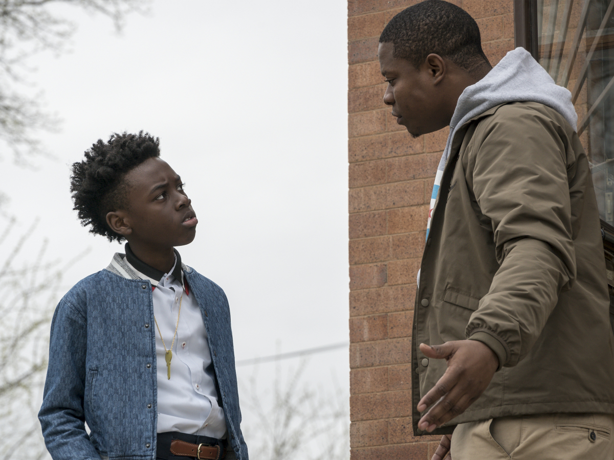 Alex Hibbert as Kevin and Jason Mitchell as Brandon in THE CHI (Season 1, Episode 01 ). - Photo: Matt Dinerstein/SHOWTIME - Photo ID: THECHI_101_2120.R.jpg