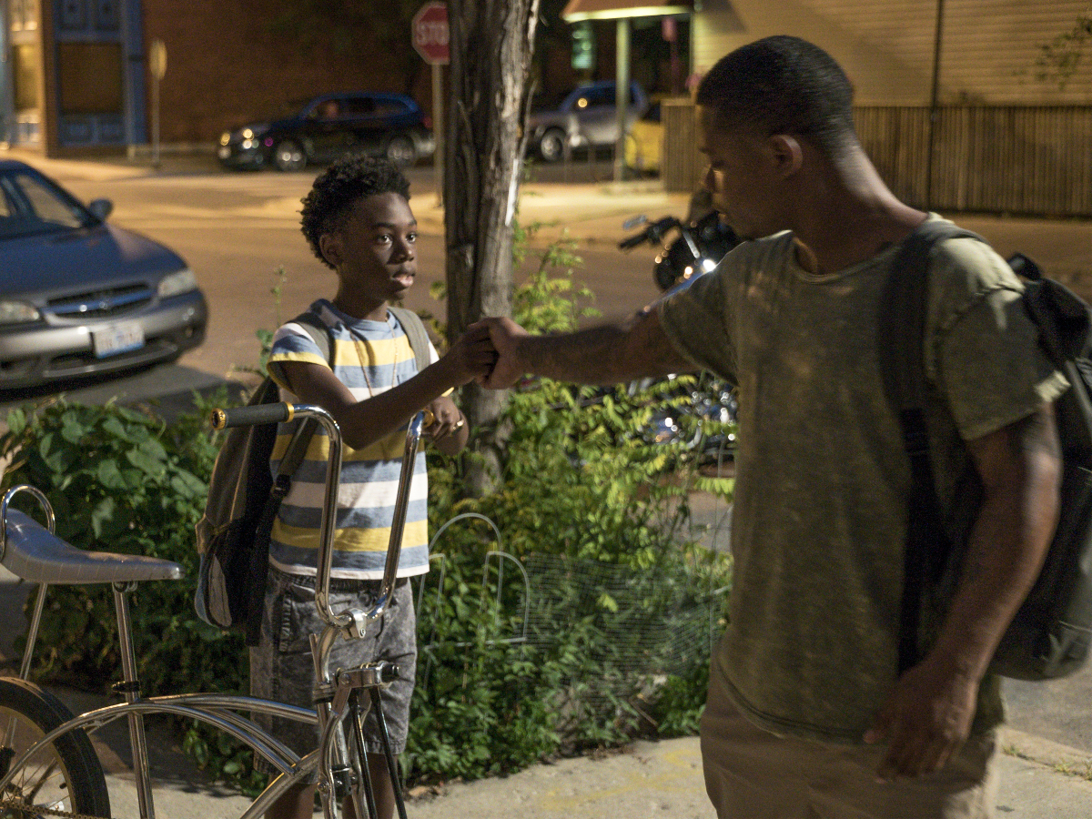 Alex Hibbert as Kevin and Jason Mitchell as Brandon in THE CHI (Season 1, Episode 03 ). - Photo: Matt Dinerstein/SHOWTIME - Photo ID: THECHI_103_2707.R.jpg