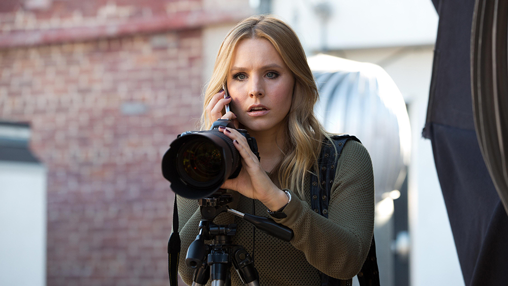 No Merchandising. Editorial Use Only. No Book Cover Usage. Mandatory Credit: Photo by Warner Bros. Digital/Spondoolie Prods./Rob Thomas Prods./Kobal/REX/Shutterstock (5884127y) Kristen Bell Veronica Mars - 2014 Director: Rob Thomas Warner Bros. Digital/Spondoolie Productions/Rob Thomas Productions USA Scene Still Comedy/Drama